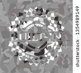 built in on grey camo texture | Shutterstock .eps vector #1354989149