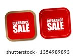 clearance sale stickers | Shutterstock .eps vector #1354989893