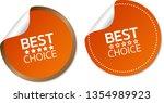 best choice stickers | Shutterstock .eps vector #1354989923
