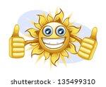 summer sun | Shutterstock .eps vector #135499310