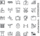 thin line icon set   plane... | Shutterstock .eps vector #1355003903