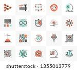 flat line icons set of data... | Shutterstock .eps vector #1355013779