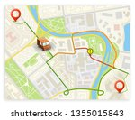 isometric city map navigation ...   Shutterstock .eps vector #1355015843