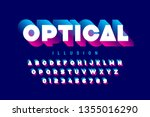 optical illusion style font... | Shutterstock .eps vector #1355016290