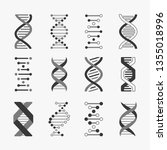 dna. helix cell gene structure... | Shutterstock .eps vector #1355018996