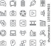 thin line icon set   camera... | Shutterstock .eps vector #1355019833