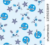 rabbits pattern with stars for... | Shutterstock .eps vector #1355033849