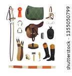 essential horse grooming tools  ... | Shutterstock .eps vector #1355050799
