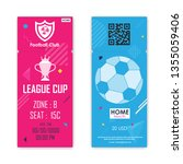 football  soccer ticket card... | Shutterstock .eps vector #1355059406