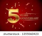 template logo 5 years... | Shutterstock .eps vector #1355060423