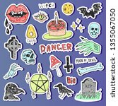 horror set of halloween doodle... | Shutterstock .eps vector #1355067050