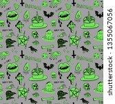horror set of halloween doodle... | Shutterstock .eps vector #1355067056