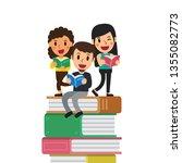 vector cartoon people with...   Shutterstock .eps vector #1355082773