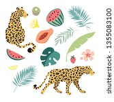 summer tropical graphic... | Shutterstock .eps vector #1355083100