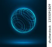 abstract 3d sphere consist of... | Shutterstock .eps vector #1355091809