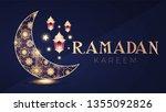 tamadan kareem greeting card... | Shutterstock .eps vector #1355092826