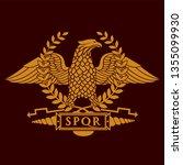 roman eagle symbol of roman...   Shutterstock .eps vector #1355099930