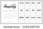 vector calendar planner for... | Shutterstock .eps vector #1355100743