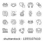 friendship and love line icons. ... | Shutterstock .eps vector #1355107610