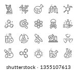 chemistry lab line icons.... | Shutterstock .eps vector #1355107613