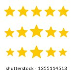 five stars. quality sign. vector | Shutterstock .eps vector #1355114513