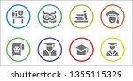 wisdom icon set. 8 filled... | Shutterstock .eps vector #1355115329