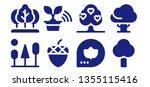 oak icon set. 8 filled oak... | Shutterstock .eps vector #1355115416