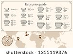 coffee infographic icons. set... | Shutterstock .eps vector #1355119376