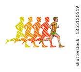 running marathon  people run ... | Shutterstock . vector #1355120519