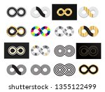 set of black and gold infinity  ... | Shutterstock .eps vector #1355122499