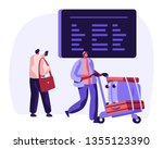 traveler with baggage watch... | Shutterstock .eps vector #1355123390