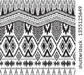 ikat seamless pattern. vector... | Shutterstock .eps vector #1355125649