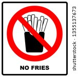 stop french fries. ban fatty... | Shutterstock . vector #1355137673