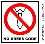 tie line icon in prohibition... | Shutterstock . vector #1355137976