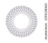 decorative round frame for...   Shutterstock .eps vector #1355138363