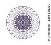 decorative round frame for...   Shutterstock .eps vector #1355138390
