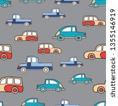 seamless cars pattern repeating ... | Shutterstock .eps vector #1355146919