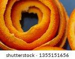 macro citrus fruit peel.... | Shutterstock . vector #1355151656