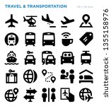 travel vector icon set | Shutterstock .eps vector #1355158976