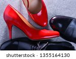 composition with two pairs of... | Shutterstock . vector #1355164130