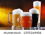 composition with four glasses... | Shutterstock . vector #1355164406