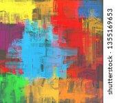 abstract background texture. 2d ... | Shutterstock . vector #1355169653