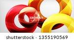 modern geometric circles... | Shutterstock .eps vector #1355190569