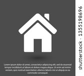 home vector icon. house icon.... | Shutterstock .eps vector #1355198696