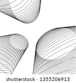 abstract 3d architecture | Shutterstock .eps vector #1355206913