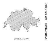 scribble sketch of switzerland... | Shutterstock .eps vector #1355214500