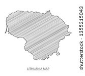 scribble sketch of lithuania... | Shutterstock .eps vector #1355215043