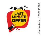 last minute offer button sign.... | Shutterstock .eps vector #1355219000