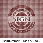 sign red seamless polygonal...   Shutterstock .eps vector #1355223503