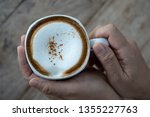 hot coffee all ready to drink... | Shutterstock . vector #1355227763